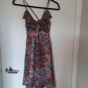 EUC STUNNING floral ruffle/flowy dress